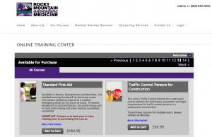 Rocky Mountain Adventure Medicine Online Training Centre, Online Training, Online First Aid